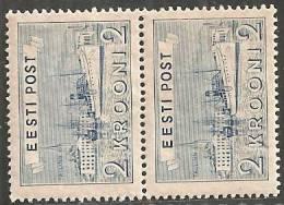 Estonia 1938 Nuovo**- Mi. 137 Coppia; Gomma Scura - Estonia