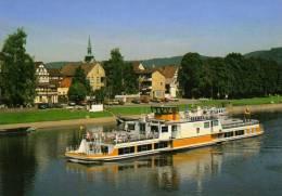 01454 Motorschiff HÖXTER Auf Der Weser - Oberweser Dampfschiffahrt - Paquebots