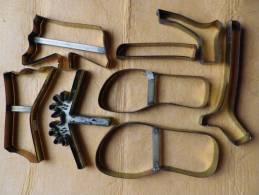 Lot De 8 Emportes Pieces De Cordonnier Semelle Et Talon GLAIEUL 25 - Werkzeuge