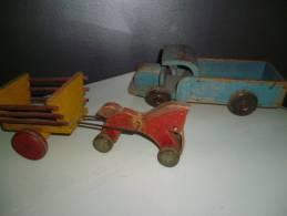 2 Vieux Jouets En Bois - Toy Memorabilia
