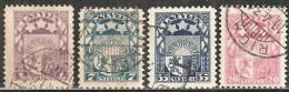 Lettonia 1921/40 Usato - N° 4 Valori - Lettonia