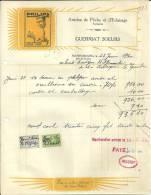 MARIEMBOURG  PHILIPS  Articles De Peche Et D'eclairage Fantaisie  GUERRIAT SOEURS..+ Timbres  23.06.1930 - Électricité & Gaz