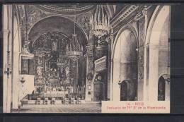 REUS.INTERIOR DEL SANTUARIO DE N.Sª. DE LA MISERICORDIA  CIRCULADA HACIA 1920 - Tarragona