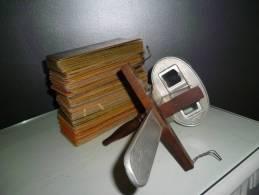 110 Cartes Stéréoscopiques + 1 Visionneuse Stéréoscopique - Stereoscopes - Side-by-side Viewers
