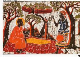Afrique > BURKINA FASO - Jésus Et La Samaritaine Batik Du Burkina Faso (A)  ( Religion) * PRIX FIXE - Burkina Faso