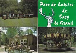 SACY LE GRAND PARC DE LOISIRS ROUTE DE LABRUYERE ( LES 3 CARTES ) - Francia