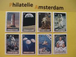 Guinea 1980, APOLLO 11 ARMSTRONG / SPACE ESPACE RAUMFAHRT RUIMTEVAART: Mi 883-90, ** - Ruimtevaart