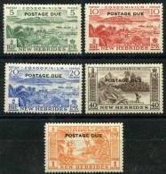 Nouvelle Hébrides (1953) Taxe N 41 à 45 * (Charniere) - Nouvelles-Hébrides
