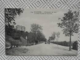 """Belle CPA Animée:  """"ETAMPES - Promenade Du Haut Et Entrée Du Bois De Guinette""""    Th.G - Etampes"""