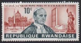 1966 - RWANDA - Y&T 144 (**/MNH) - Giovanni Montini (1897-1978) - 1962-69: Nuovi