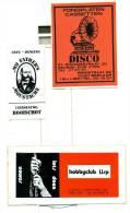 3 Reclame Stickers Van De 70s - Deurne - Booischot - Berlaar - Lier - Werbung