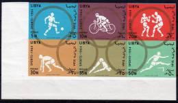 1964, Jeux Olympiques Tokyo, Y&T No. 246 -  251 Neuf ** , Non Dentelé Avec Coin De Feuille, Lot 37983 - Libye