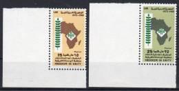 1973,  Organisation De L'Unité Africains OUA,  Y&T No. 469 + 470 , Neuf **, Lot 37990 - Libia
