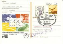 (982) Sonderpostkarte Mit -stempel Als Anschriftenprüfung !!! 28.9.1996 OSNABRÜCK, Pierre Coubertin, Olympia - Estate 1996: Atlanta