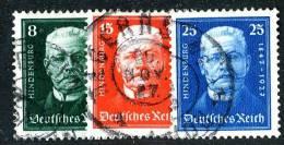 607  Reich  1927  Mi.# 403-05   (o) - Allemagne