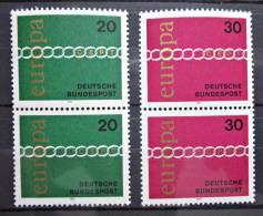 Briefmarken BRD Zusammendruck Satz Europa 1971 Postfrisch - BRD