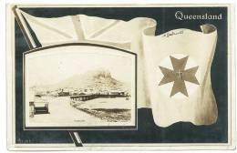 CARTOLINA - BANDIERA - FLAG -  TOWNSVILLE QUEENSLAND - VIAGGIATA DA VEROLI PER FIRENZE NEL 1909 - Australia