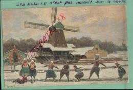 CPA  DESSIN De T.S.N. , Enfants Et Chalet, Moulin à Vent, ,  2013-Div 0101 - Künstlerkarten