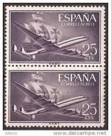 ES1170-LA970TTOA.Spain Espagne SUPER-CONSTELLATION Y NAO SANTA MARIA 1955/56.(Ed. 1170**)sin Charnela LUJO  BLOQUE DE 2 - Transporte