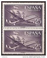 ES1170-LA970TTOM.Spain Espagne SUPER-CONSTELLATION Y NAO SANTA MARIA 1955/56.(Ed. 1170**)sin Charnela LUJO  BLOQUE DE 2 - Transporte