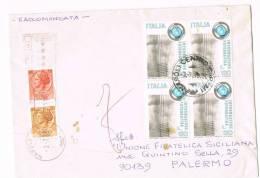 934-Italia 3.7.1978 -  Raccomandata Per Palermo Affrancata Con Quartina £.120 Inform. Fotografica + £.30+£.10 - 6. 1946-.. Republic