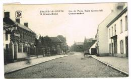 "Carte Postale ""Braine-le-Comte / Graven-Brakel - Rue De Mons, Ecole Communale / Gemeenteschool - Braine-le-Comte"