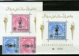 Sport-Spiel Asien 1963 Afghanistan Block 43,44 Plus BM ** 15€ Ibrahim Sieg Ringen Ss Olympic Bloc Sheet Bf Afghanes - Afghanistan