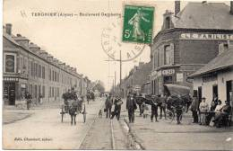TERGNIER - Boulevard Gambetta / Attelages, CPA Animée - Otros Municipios