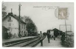 16 - T4491CPA - CHARMANT - La Gare - Très Bon état - CHARENTE - France
