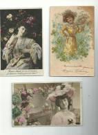 3 CP ....de Fantaisies  ..femmes Aux Chapeaux ......à Voir - Unclassified