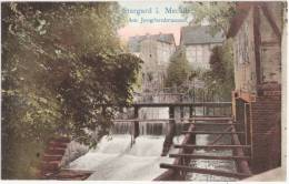 Burg Stargard Mecklenburg Jungfernbrunnen Color Stauwehr Mühle Sohlgleite Aalfang Ungelaufen TOP-Erhaltung - Neubrandenburg