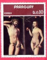 PARAGUAY - Usato - 1973 - Arte - Pittura - Painting - Luca Cranach Il Vecchio - Adamo E Eva - 0.10 - Paraguay