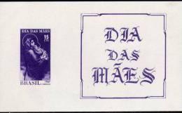 Muttertag 1967 Brasilien Block 20 ** 7€ Gemälde Madonna Mit Jesus-Kind Bf Art Bloc Mother-day Painting Sheet Of BRAZIL - Fête Des Mères