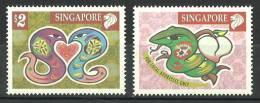 Singapore 2001 (Year Of The Snake ) - MNH (**) - Singapur (1959-...)