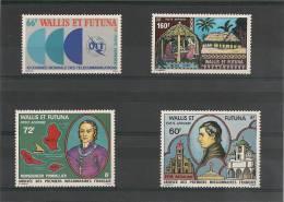 WALLIS ET FUTUNA Timbres Aériens 1978 N°Y/T 82/85** Côte : 20,50 € - Poste Aérienne