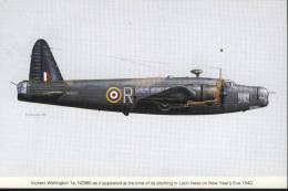 Great Britain  PostCard Vickers Wellington SIGNED - 1946-....: Moderne