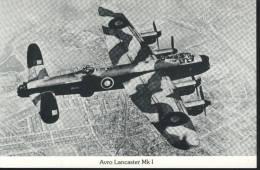 Great Britain  PostCard Avro Lancaster Mk 1 SIGNED - 1946-....: Moderne