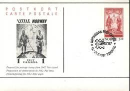 Norway  PostCard Non Issued Stamp Capex 87 - 1946-....: Modern Era