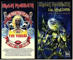 2 X VHS Musikvideo Heavy Metall : Iron Maiden : The First Ten Years + Live After Death   ,  Von Ca. 1990 - Concert Et Musique