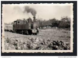 60 - WAVIGNIES 18/10/58 -PHOTO 5,3 X 7,7 Cm -130T SACM N°13 ET TRAIN DE MARCHANDISES - Trains
