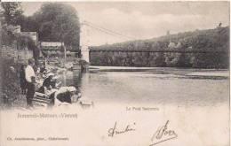 BONNEUIL MATOURS (VIENNE) 7190  LE PONT SUSPENDU (LAVANDIERES ET  ENFANTS) - Autres Communes