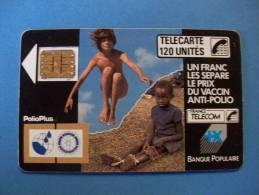 POLIO + VACCIN - 120 UN - Léger Plis Sensible Au Toucher - 1988