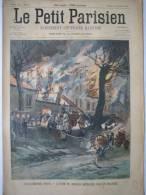 PETIT JOURNAL PARISIEN 1904  N°825  SAPEUR POMPIER PARIS ISSY-LES-MOULINEAUX  RIPOLIN - Le Petit Journal