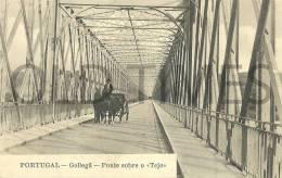 PORTUGAL - GOLEGÃ - PONTE SOBRE O RIO TEJO - 1915 PC. - Santarem