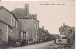 BRUX (VIENNE) LA MAIRIE ET LE HAUT BOURG (PETITE ANIMATION) 1915 - Autres Communes