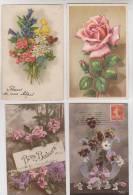 LOT DE 32 CPA FANTAISIES FLEURS ILLUSTREES - Cartes Postales