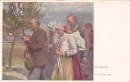 "Farmers , ""Wallfahrer"" , Artist D. Ruzicka , 00-10s - Künstlerkarten"