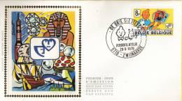 België -  Jeugdfilatelie - Kuifje.- FDC 1 - 10- 1979 - OBP 1944 - ZIJDE - 1971-80