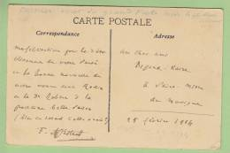 """FREDERIC MISTRAL : """"Dernier écrit"""", 25 Février 1914, Au Cher Ami Bigand-Kaire. Carte Autographe Signée. 2 Scans - Autographes"""