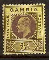 GAMBIA 1904-09 KING EDWARD VII SC # 47 MLH - Gambia (...-1964)